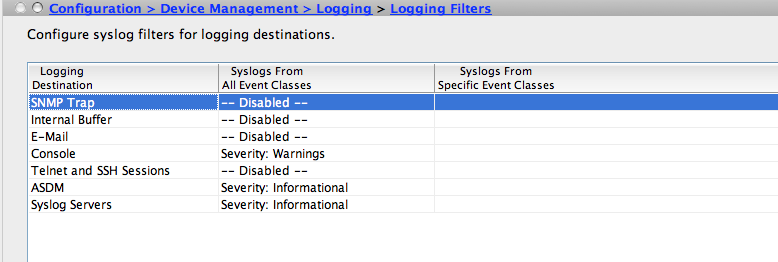 Syslog logging with Cisco ASA – Roman Pertl