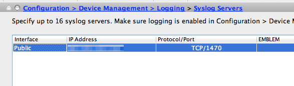 Syslog logging with Cisco ASA – Roman Pertl